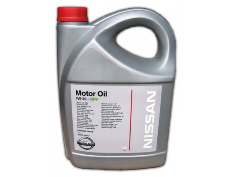 МОТОРНОЕ МАСЛО NISSAN MOTOR OIL SAE 5W-30 DPF  5L