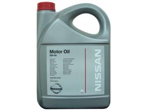 МОТОРНОЕ МАСЛО NISSAN MOTOR OIL SAE 5W-40 5