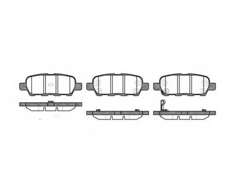 Тормозные колодки задние Remsa (0876.01)