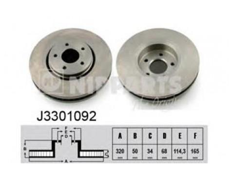 Тормозной диск передний Nipparts(J3 301 092)