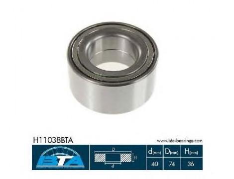 Подшипник ступицы передний BTA (H11038BTA)
