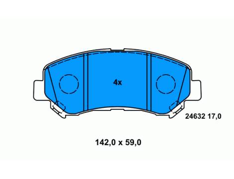 Тормозные колодки передние ROAD HOUSE (21318.00)