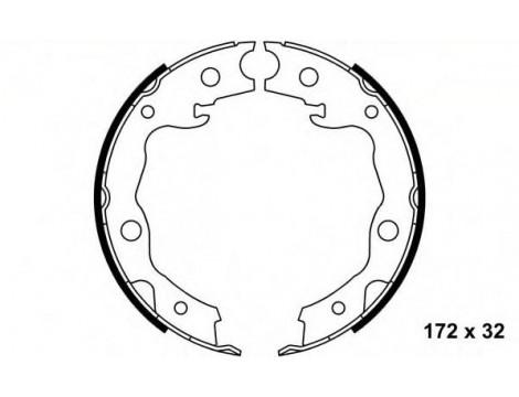 Колодки стояночного тормоза барабанные OYO (OYO44060CY025)