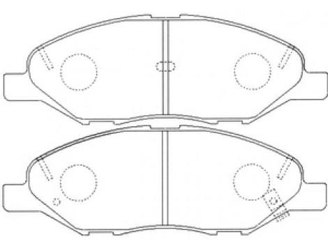 Тормозные колодки передние Mando (MPN07)